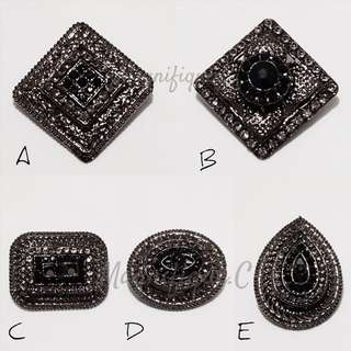 (Brooch) Obsidian Series