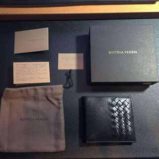Bottega veneta BV 銀包 wallet black nero nappa wallet