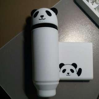 可愛熊貓筆袋 + note pad 【90%new💚超平】