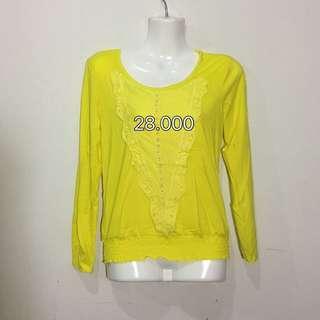 Yellow shiny top