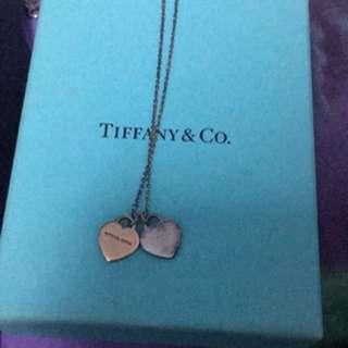 Tiffany & Co.雙心頸鍊