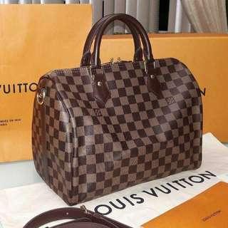 Louis Vuitton Speedy Bandoulier Damier Ebene 30
