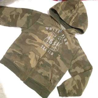 Camouflage Faded Glory Jacket with Hood