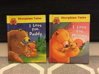 """Story time animal takes """"I love you daddy/ mummy"""" bear"""
