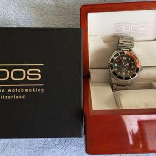 EPOS 3396 原裝鋼帶連真皮及矽膠代用錶帶