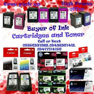 Ink cartridged and toner