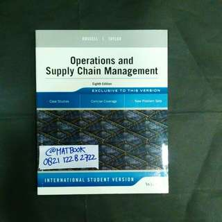 OPERATIONS AND SUPPLY CHAIN MANAGEMENT 8ED