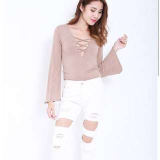 Scarlet top (taupe)