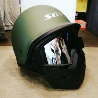 SGV Motorbike Helmets and Face Mask