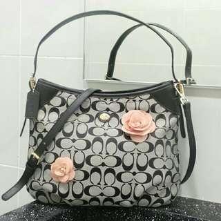 Coach flora tote bag