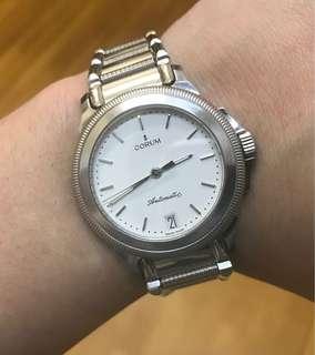 90%NEW 瑞士CORUM 全自動 快跳日曆 水晶玻璃 連的計36mm錶面 足格 出世証 $8800