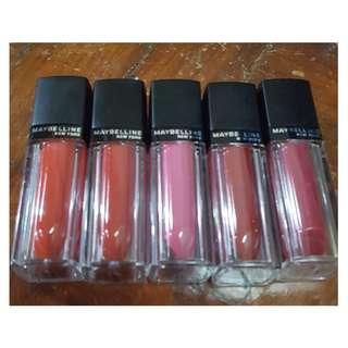Maybelline Vivid Matte Cream-to-Matte Lip Color (Set)