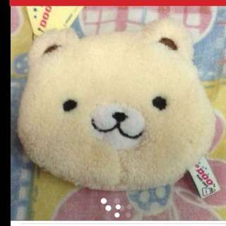 $10 Super Cute Bear Soft Furry Pouch  Hong Kong (Brand New With Tag )