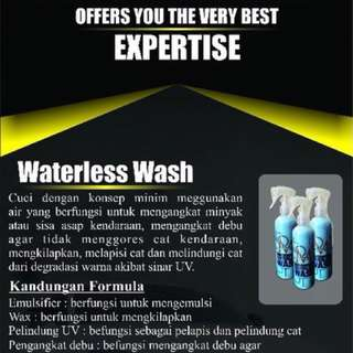 Waterless wash for car