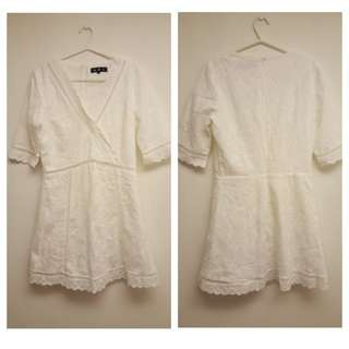 White lace mini A-line MDS dress