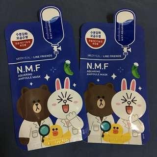 N.M.F Aquaring Ampoule Mask (2pcs)