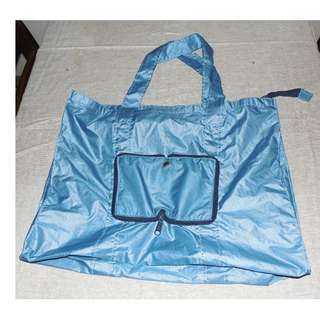 Pocket Size Foldable Blue Bag