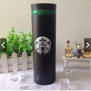 FREE SHIPPING Black Starbucks Thermos Tumbler 500ml
