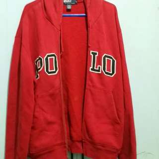Original POLO RL Red hooded jacket (L)