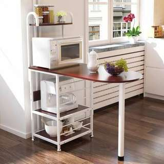 New Kitchen Island Double Storage Multipurpose Shelve