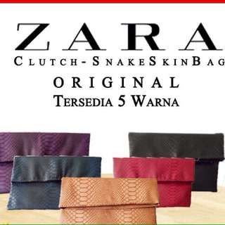 zara clutch snake original