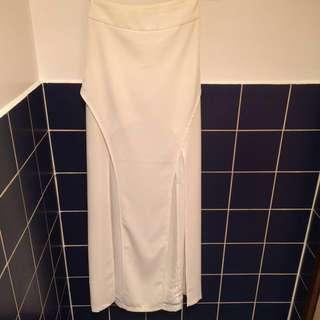 SHEIKE cream high waist skirt