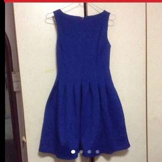 $149.90 Marks & Spencer Navy Blue Pleated Flare Dress with Golden Zip ( Brand New With Price Tag) - Machine Washable