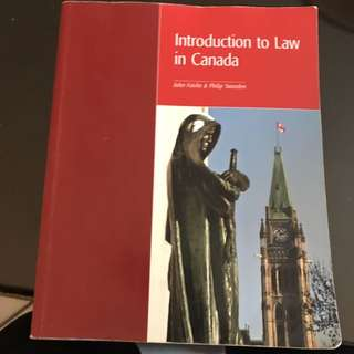 Introduction to Law in Canada