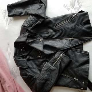 H&M leather jacket medium