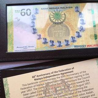 Fast! RM60 Banknote Limited Edition RARE