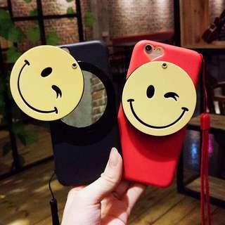 ♥️新品包郵♥️潮牌鏡子iPhone各型號手機殼帶掛繩可拆全包iphonex磨砂硬殼防摔