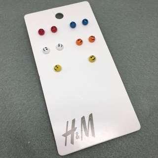 H and M sample Earrings set 五對裝哈哈笑耳環組合