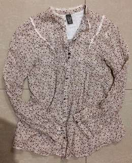 Zara Long Sleeves Floral Top