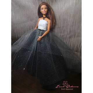 Galaxy Skirt Midnight Black Barbie Skirt