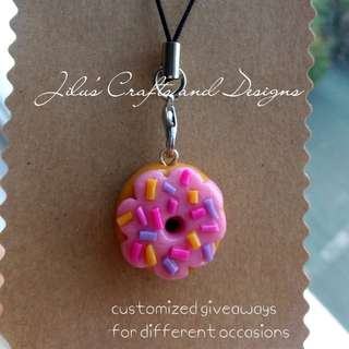 Donut Charm for Bags / Cellphones