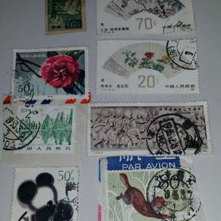 Old china stamps