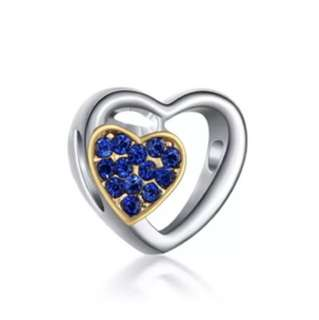 Blue and Gold Heart