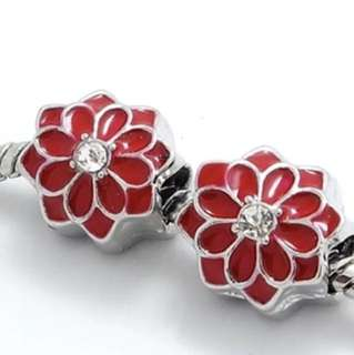 Red Flower Charm