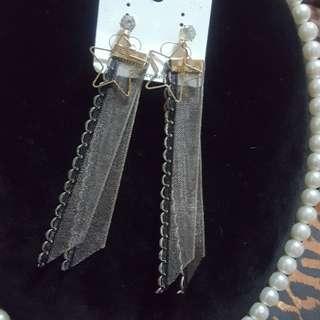 韓版緞帶星星造型耳針