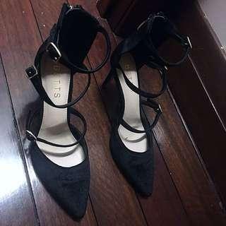 Betts For Her Strappy Velvet Heels