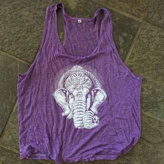 Purple elephant top