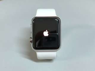 Apple Watch Stainless Steel 38mm with White Sport band (1st Gen)