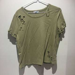 ripped khaki top