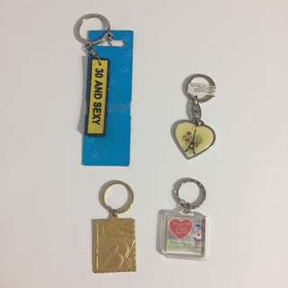 4 Keychains bundle free normal mail