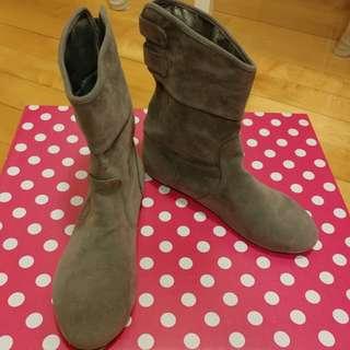 Women's short boot 全新灰色短boot