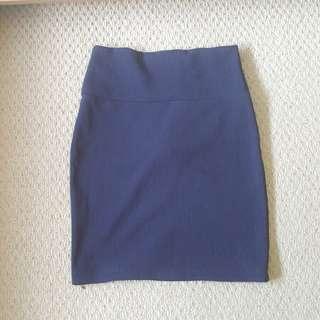Forever 21 navy ribbed skirt