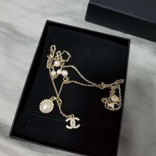 100% Real Chanel necklace 两用長短