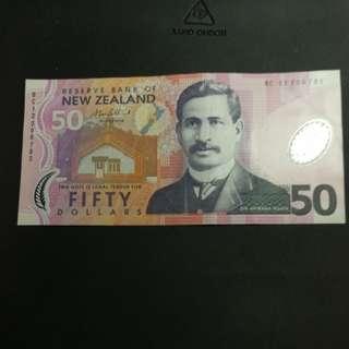 紐西蘭五十蚊