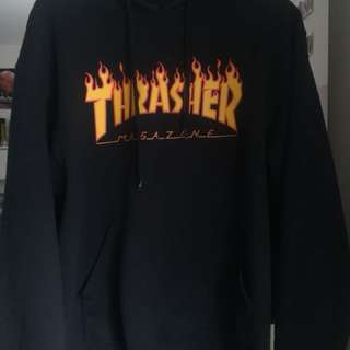 *PRICE REDUCED Authentic Thrasher Flame Black Hoodie
