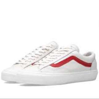 Vans Marshmallow Style 36 Racing Red